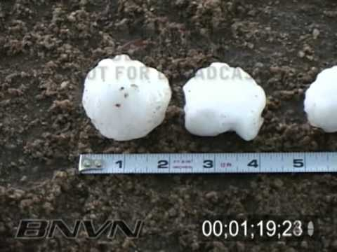 Various dates, hail falling while storm chasing video