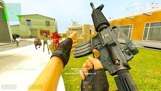 Counter Strike Source - Zombie Horde Mod Online Gameplay on Metro map