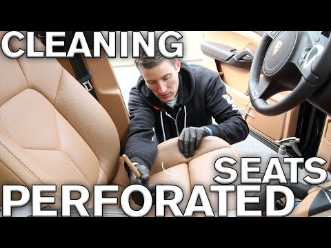 Trick to cleaning perforated leather seats