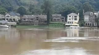 Charleston W.V.... Historic Flooding Kanawha River Crest