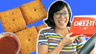 Pizza Hut Stuffed CHEEZ-IT PIZZA Taste Test