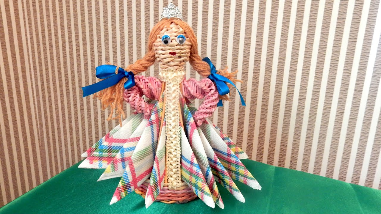 Кукла из картона своими руками мастер класс 661