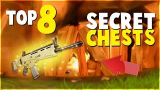 TOP 8 HIDDEN SECRET Chests and Locations (FORTNITE Battle Royale)  Tips and Tricks