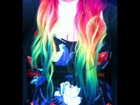 rainbow dipdye ombre tutorial youtube