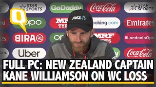 Kane Williamson on New Zealand's Loss to England in Cricket World Cup Final | The Quint