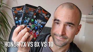 Honor 8x vs Honor 7x vs Honor 10 | Side-by-side comparison