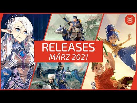 🆕 Neue SPIELE im MÄRZ 2021 für PS4, PS5, Xbox One, Xbox Series X, Nintendo Switch & PC