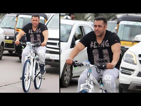 Salman Khan SPOTTED Cycling At Bandra Worli Sea Link