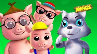 The Wolf and Three Little Pigs | Kids Rhymes & Songs for Children