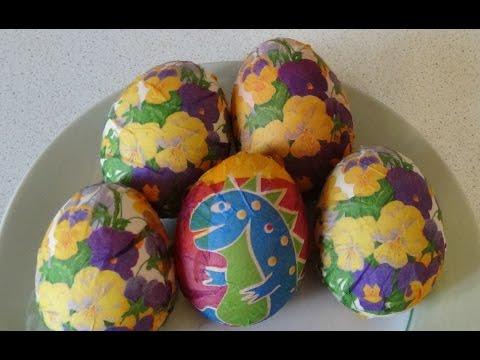 81. Декупаж пасхальных яиц