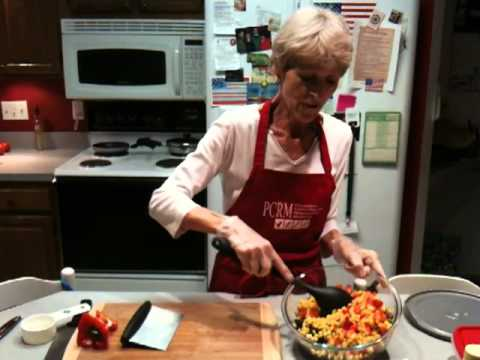 rebecca dingle's vegan educational cooking demonstration