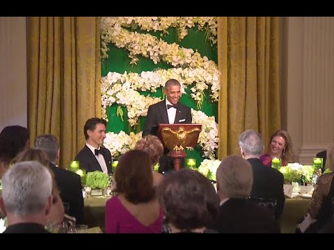 President Obama and Prime Minister Trudeau Deliver Remarks at State Dinner
