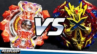 Gigant Gaia .Q.F vs Xeno Xcalibur .M.I - [Beyblade Burst] - ベイブレードバースト