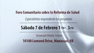 Foro Comunitario sobre la Reforma de Salud en Manassas