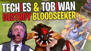 Techies & TobiWan Destroy Bloodseeker - (34/9/10) DotA 2