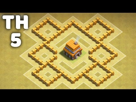 Town Hall 5 Awesome War Base ⏺Clash of Clans (CoC TH5)