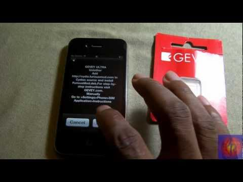 GEVEY ULTRA Unlock iPhone iOS 4.0 - 5.0 BB 1.59/2.10.04/3.10.01/4.10.01/4.11.04