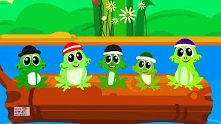 Five Little Speckled Frogs   Nursery Rhymes For Kids   Baby Songs