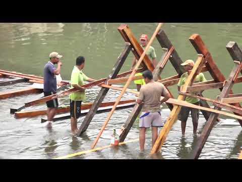 Microinformativo | Inició la construcción de la compuerta de madera