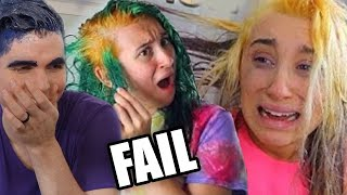 Trying HAIR DYE FAILS (+ Personal Hair Dying Results!) by Brad Mondo