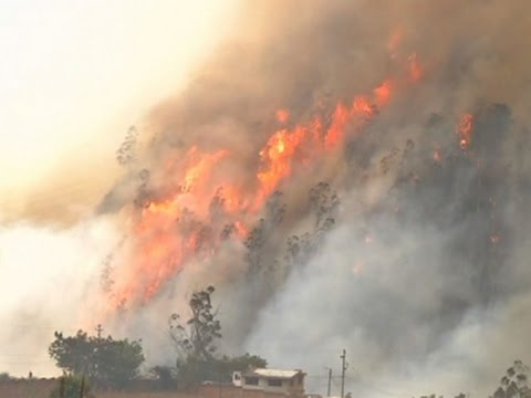 Raw: Forest Fires Shroud Quito In Smoke