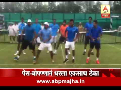 Khel Majha : Sports : Leander Paes & Davis Cup Winner Players Dance