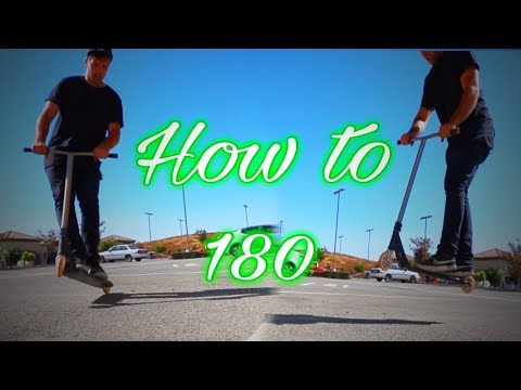 HOW TO 180 ON SCOOTER EASIEST WAY! SCOOTER TRICKS FOR BEGINNERS