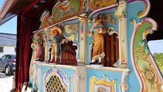 Verbeeck street organ. Het Blauwtje at the king Edward mine family fun day.