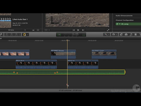 Audio Keyframe Enhancements in Final Cut Pro 10.1