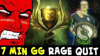 7 min GG RAGE QUIT — meeting TI8 winner TOPSON on Battle Cup