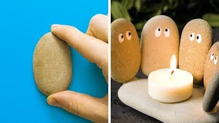 20 DIY IDEAS WITH STONES