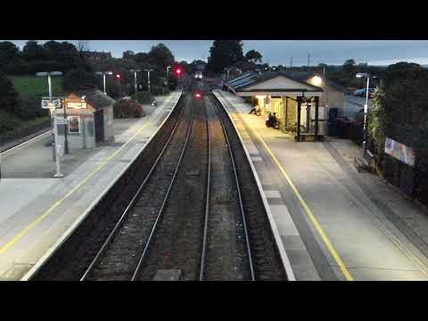 GWR High Speed Train runs past Castle Cary station