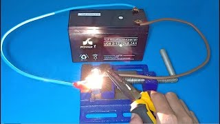 How to make welding machine using only 12V Battery