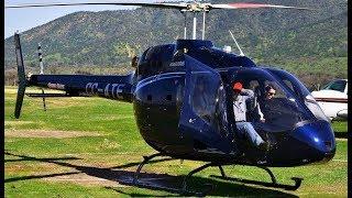 Bell 505 Jet Ranger X start-up, takeoff and landing