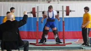 Yuri Kolmakov. Squat 340kg. Only  wraps
