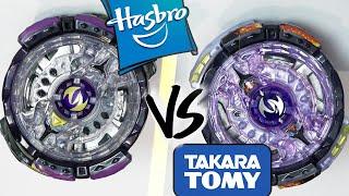 HASBRO VS TAKARA TOMY: Noctemis N3 .2.J VS Twin Nemesis .3H.Ul - Beyblade Burst God/Evolution