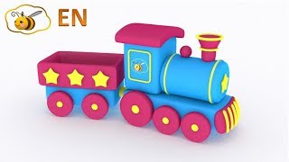 Trains for children: Choo choo train from a surprise egg. Educational cartoon for kids