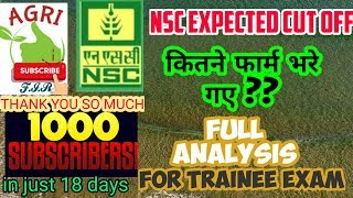 NSC EXPECTED CUTOFF AND FARM FILLUP ANALYSIS  FOR ALL TRAINEE EXAMS OF AGRICULTURE