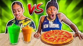 REAL FOOD VS SMOOTHIE FOOD CHALLENGE!