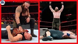 Braun Brutally Attack on Brock Lesnar  | WWE Raw 11/09/2017 Highlights in Hindi