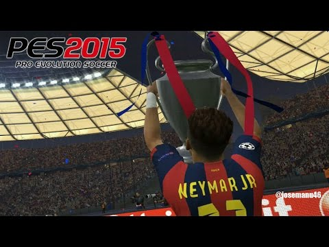 PES 2015 - UEFA Champions League FINAL - Barcelona vs Real Madrid (Penalty Shootout)