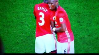 Paul Pogba awesome niggas handshake with Bailly