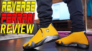 COP OR NOT ?!? AIR JORDAN 14 REVERSE FERRARI REVIEW AND ON FOOT !!!