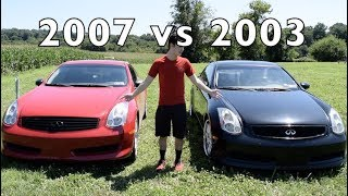 2003 vs. 2007 Infiniti G35 Coupe - Differences and Comparison!