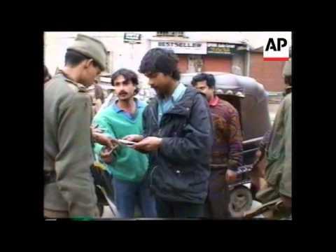 Kashmir-Strike In Protest At Deaths of Separatists