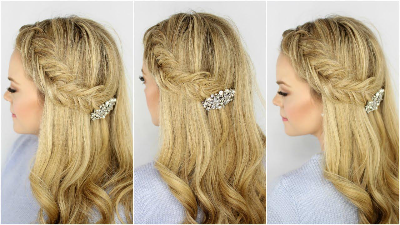 Inverted Fishtail Headband Braid - YouTube
