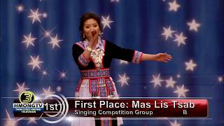 3 HMONG NEWS: Mas Lis Tsab, first place in singing competition Group B.