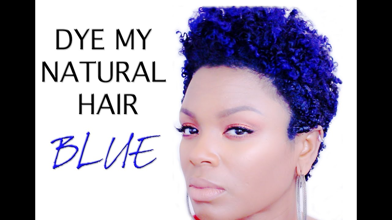 Natural Hair Dyed Blue