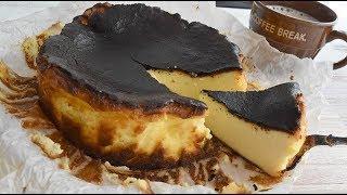 Black cheesecake 【家カフェ】黒いチーズケーキ【作り方】