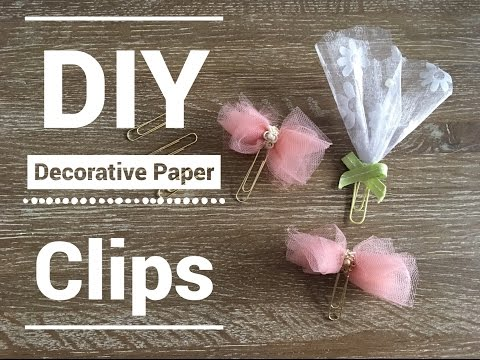 How to make ribbon paper clips
